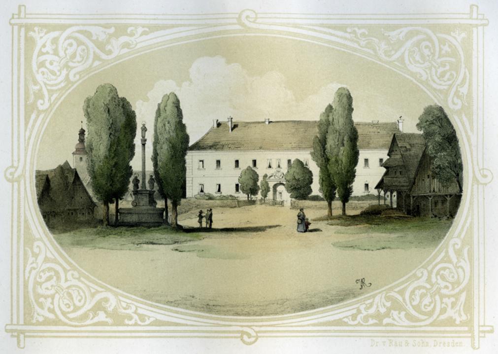 zamek_1850_01 web litografie J.V.RAU