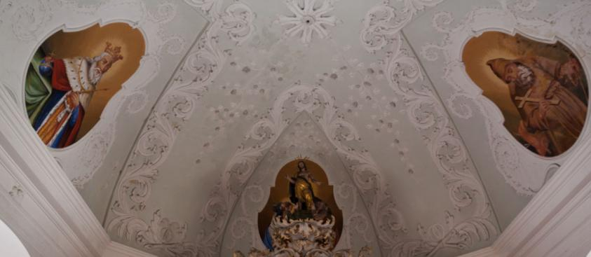 Strop zámecké kaple
