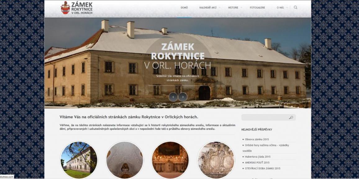 Nová podoba stránek Rokytnického zámku