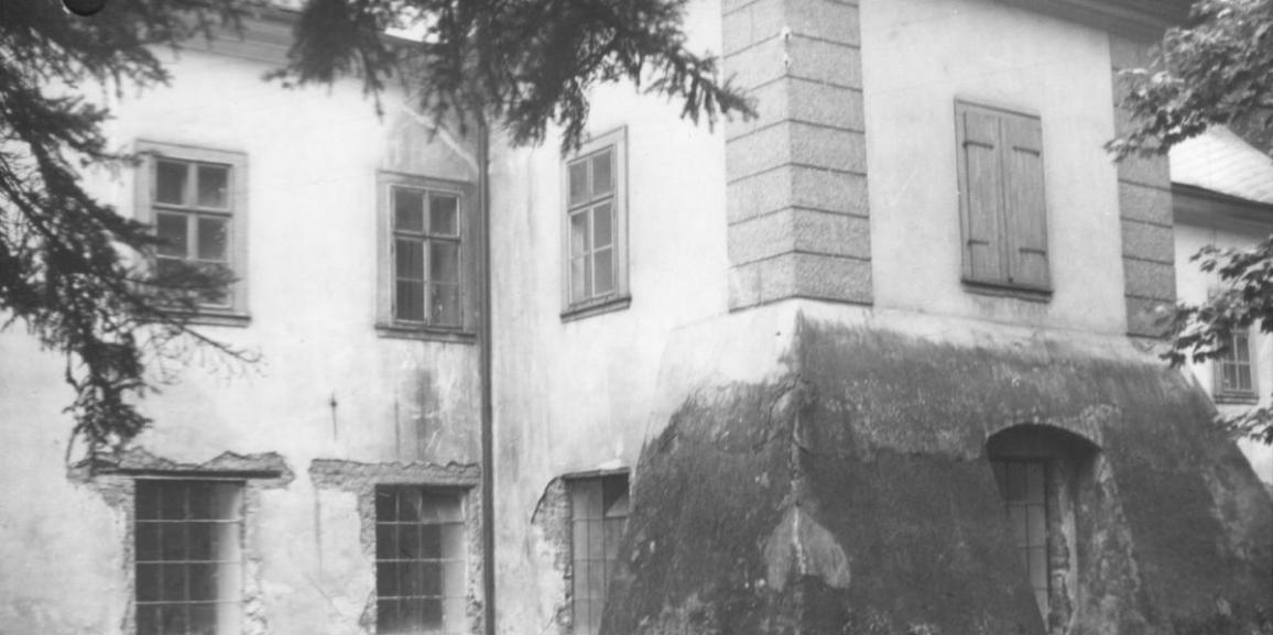 Zámek – v roce 1966 – pohled na zámeckou kapli